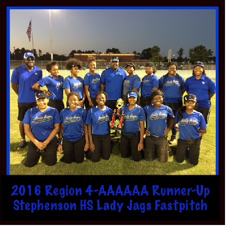 lady jags fast pitch with trophy