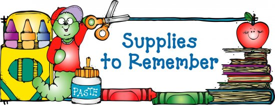 supplies to remember