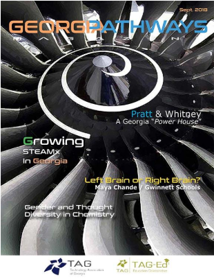 Georgia Pathways STEM online magazine cover