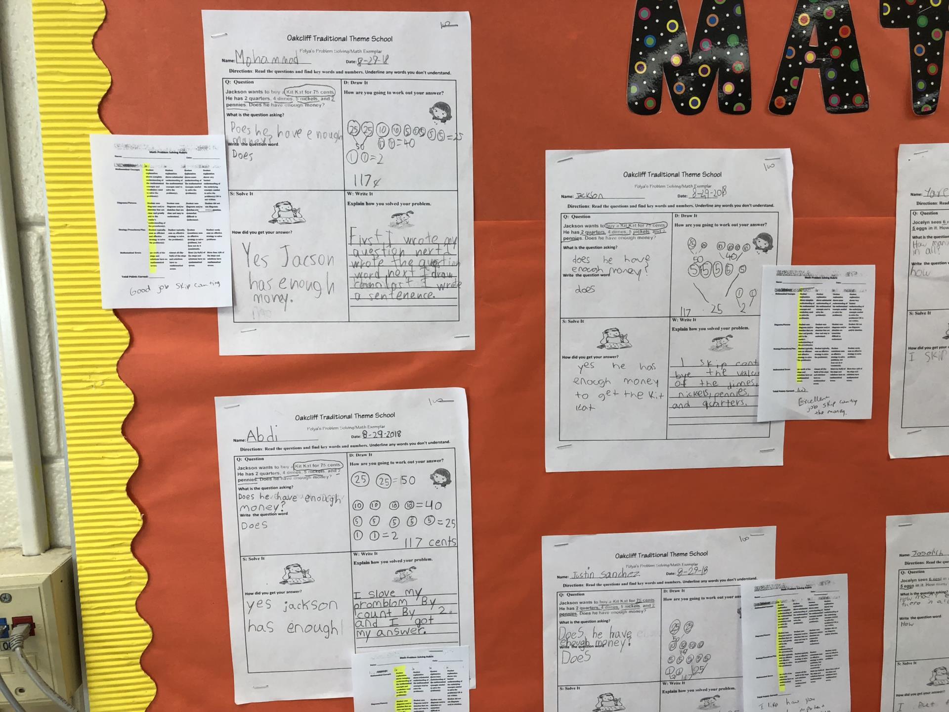 Ms McKie STEM Classroom bulletin board