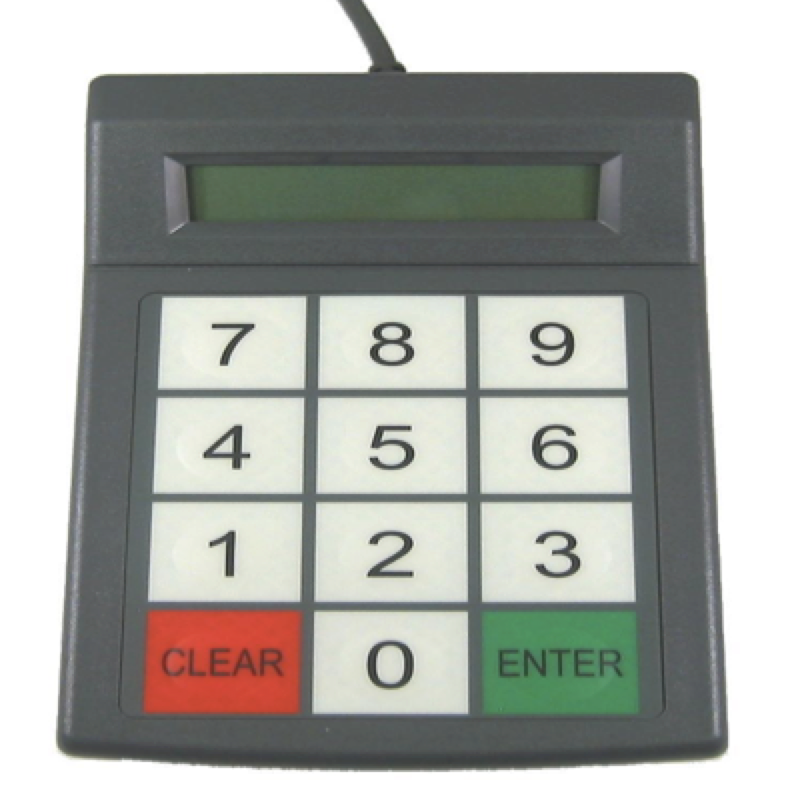 Lunch Number Keypad